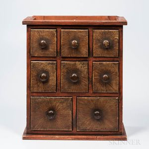 Paint-decorated Eight-drawer Spice Chest