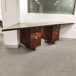 Custom Corner Desk with George Nelson for Herman Miller Cabinets