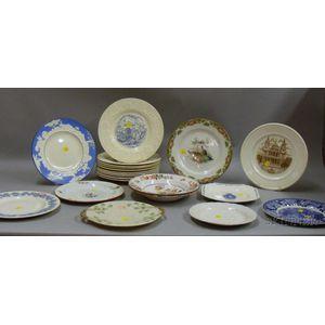 Twenty-one Assorted Mostly Wedgwood Plates