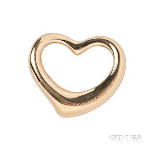 "18kt Gold ""Open Heart"" Pendant, Elsa Peretti, Tiffany & Co."