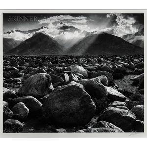 Ansel Adams (American, 1902-1984)      Mount Williamson, Sierra Nevada from Manzanar, California