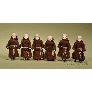 Six Simon & Halbig Dollhouse Doll Monks