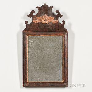 Walnut Veneer Parcel-gilt Mirror