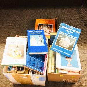 Three Boxes of Books on European Ceramics.     Estimate $20-200