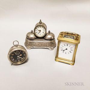 Three Assorted Desk Clocks