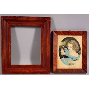 Two Grain Painted Wooden Frames