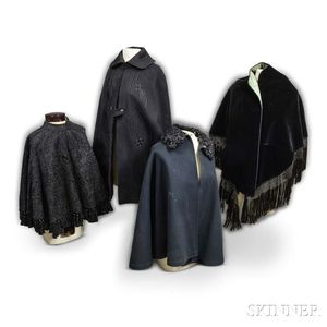 Four Victorian Black Capes