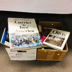 Two Boxes of Books on American Decorative and Fine Arts.     Estimate $20-200