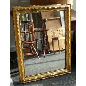 Baroque-style Giltwood and Gesso Ripple Molded Framed Mirror