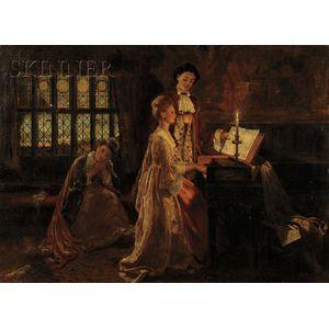 Sir Frank Dicksee, P.R.A. (British, 1853-1928)      The Duet