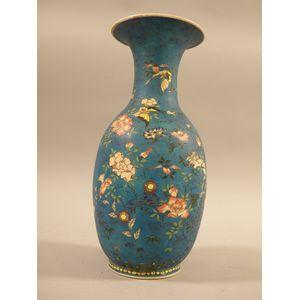 Cloisonne Enameled Porcelain Vase