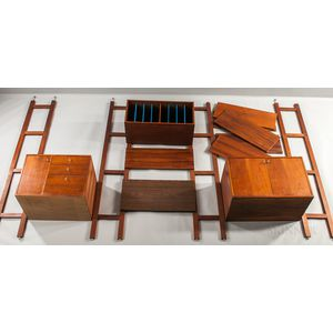 Two George Nelson for Herman Miller Walnut Wall Units