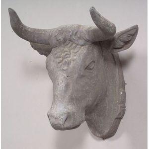 Molded Zinc Steer Head Trade Sign