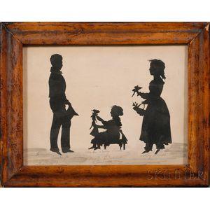 Framed Silhouette of Three Children