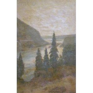 Edwin Willard Deming  (American, 1860-1942)      Pines and Coast