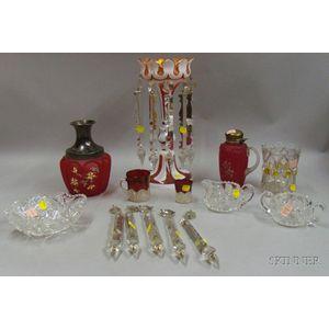 Nine Assorted Glass Items