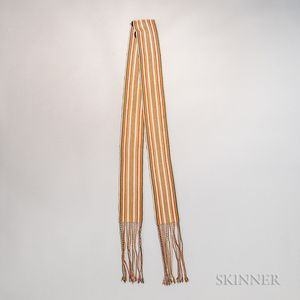 Multicolored Woven Yarn Sash