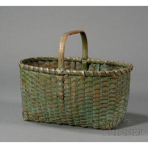 Painted Woven Splint Gathering Basket
