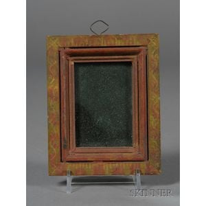 Small Paint-decorated Wooden Mirror Frame