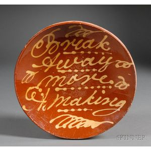 Slip-decorated Redware Charger