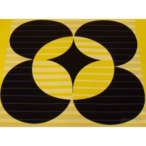 Two Unframed Yaacov Agam Serigraphs of Abstract Compositions