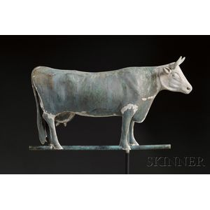 Molded Copper and Cast Zinc Cow Weather Vane
