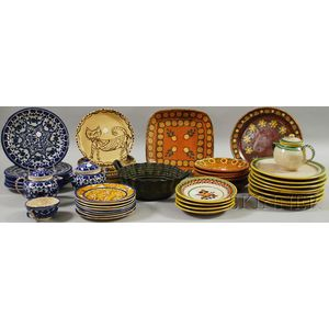 Large Assortment of 20th Century Art Pottery