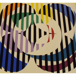 Lot of Three Unframed Yaacov Agam Serigraphs of Abstract Compositions