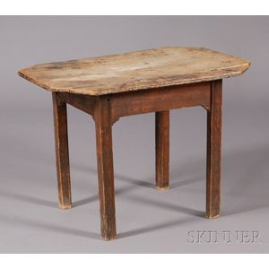 Maple and Cherry Carved Tea Table
