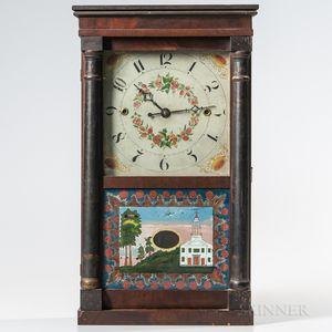 Norris North Stenciled Column Shelf Clock
