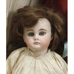 Small Closed Mouth Bisque Socket Head Doll