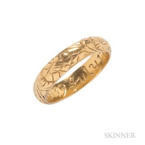 Gold Memento Mori Ring