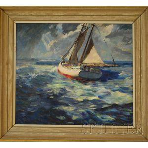 Frederick Lester Sexton (American, 1889-1975)      Sailing.
