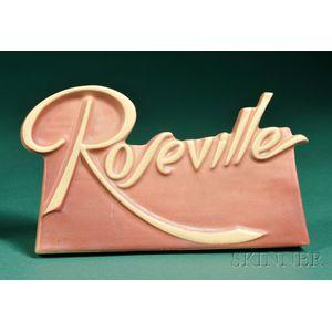Roseville Pottery Dealer Sign