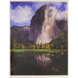 Framed Color Photograph of Half Dome at Yosemite