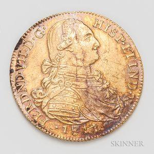 1811/0 Columbian Santa Fe de Nuevo Reino Mint 8 Escudos