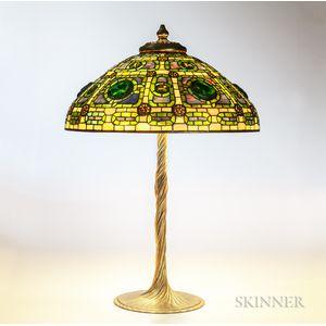 Tiffany Zodiac Turtleback Table Lamp