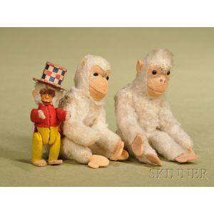 Lot of Three Small Monkeys