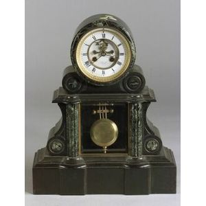 French Slate and Marble Mantel Clock