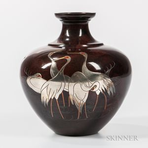 Bronze Copper Alloy Patinated Vase