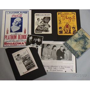 Group of Jean Harlow Related Collectibles and Ephemera