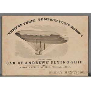 Airships, Ephemera, From the Car of Andrews