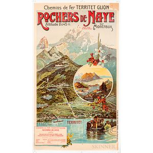 Rochers de Naye Travel Poster