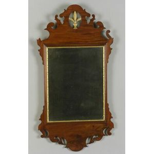 Chippendale Mahogany and Gilt Gesso Mirror
