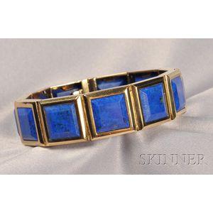 18kt Gold and Lapis Bracelet