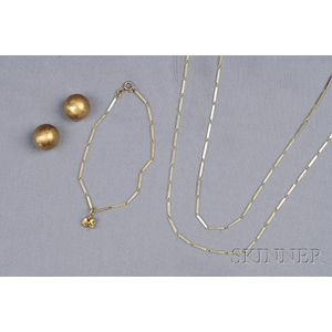 Group of Gold Jewelry Items