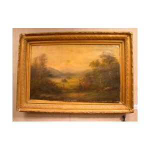 Framed Oil Landscape