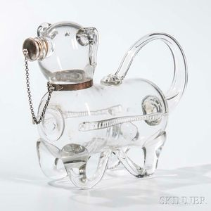 Blown Glass Dog-form Decanter