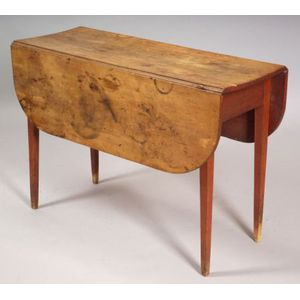 Red Painted Maple Drop-leaf Table