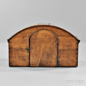 Continental Dome-top Hardwood Cabinet